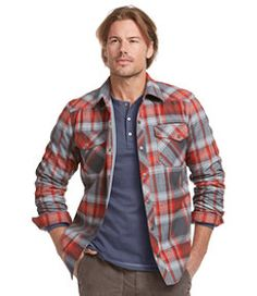 #LLBean: Overland Performance Flannel Shirt, Lined
