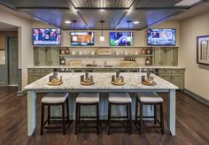 Stay in and watch the game at this awesome bar in your basement. (Toll Brothers at Glastonbury Estates, CT)