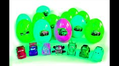 Disney Cars Surprise Eggs Opening, Ninja Turtles, toys and candy