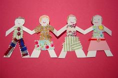 Making paper doll chains | | Kiddley : This one is an old favorite but sometimes it's nice to be reminded of the obvious.