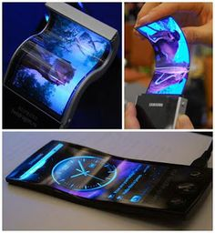 Samsung Youm Tech Gadget. Flexible phones. I'll wait for the flexible tablet.