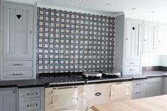 Anta Kitchen: Tartan tiles above an Aga Kitchen Units, Kitchen Cabinets, Fired Earth, Kitchen Wall Tiles, Aga, Modern Farmhouse, Cottage, Flooring, Contemporary