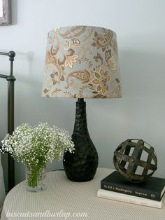 Cover your boring or ugly old lampshades and bring new life to your lamps. It was fun, easy, quick and affordable.