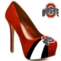 HERSTAR™ Women's Ohio State Buckeyes High Heel Microsuede Pumps - I will wear these every time I work during a game!