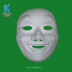 Paper pulp Halloween mask and blank masks wholesale