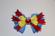 Ill pay Shipping  Elmo Polymer Clay bow by LittleBowPeepTails on Etsy, $8.00