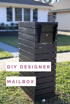 Tie Your Exterior Look Together And Boost Home S Curb Appeal With A Customized Mailbox This Simple Project Gives Street Side Decor Modern Focal Best ~ Garden Trends Mailbox Makeover, Diy Mailbox, Modern Mailbox, Mailbox Post, Mailbox Ideas, Mailbox Designs, Tools And Equipment, Diy Letter Boxes, Custom Mailboxes