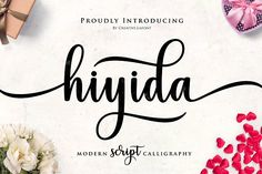 Hiyida Font is modern script font, every single letters has been carefully crafted to make your text looks beautiful. With modern script style this font Calligraphy Fonts, Script Fonts, Typography Fonts, All Fonts, Handwritten Fonts, Modern Calligraphy, Corporate Design, Logo Design, Graphic Design