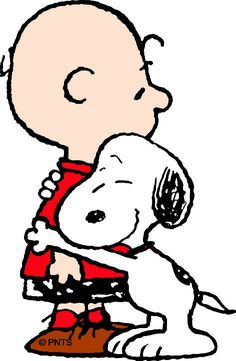 'Love is looking out for your friends', Snoopy and Charlie Brown