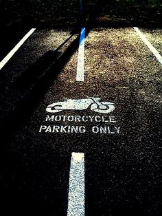 Motorcycle Parking Stencil by @AAA_Stripe_Pro aaastripepro@gmail.com  BUY NOW!