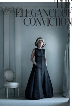 The Elegance of Conviction - Interactive Feature - T Magazine Deeda Blair in her apartment on the East River in Manhattan. She wears her own navy dress by Ralph Rucci.