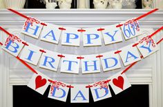 Happy Birthday Day birthday decorations male di DCBannerDesigns, $29,00