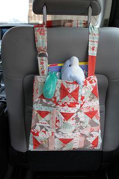 Car seat back bag pattern