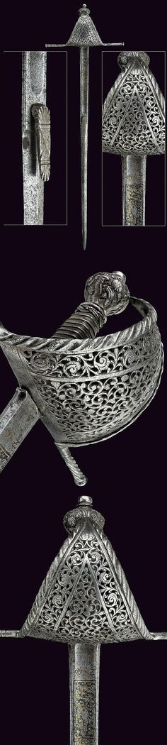 A very rare pierced small-sword, Spain, 17th century.