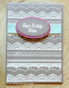 Embossed Detailed Lace with Avant Garden and Glimmer Paper – Sale-A-Bration Video Series