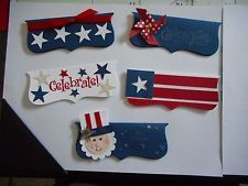 Stampin up set of 20 4th of July treat bag toppers with baggies