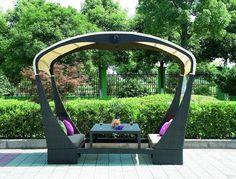 Современный дизайн садовой беседки - простота и комфорт