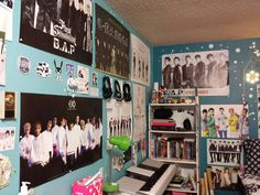 Room with Kpop posters