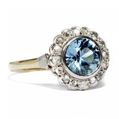 Zirkon ist nicht Zirkonia - Wundervoller Ring mit Zirkon & Diamanten, um 1925 von Hofer Antikschmuck aus Berlin // #hoferantikschmuck #antik #schmuck #Ringe #antique #jewellery #jewelry // www.hofer-antikschmuck.de