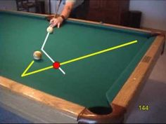 Pool and billiards bank shot drill for learning cut-angle effects, from VEPP IV (NV Valley Pool Table, Pool Table Room, Bar Games, Pool Games, Billiards Game, Play Pool, Cool Pools, Game Room, Man Cave
