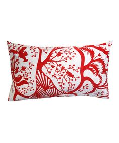 Take a look at this Red Woodland Down Rectangle Pillow by Frog Hill Designs on #zulily today!