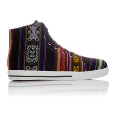 I just got my boy Vans but I think these would have done very well.   Blackbird High Top Unisex, $60, now featured on Fab.