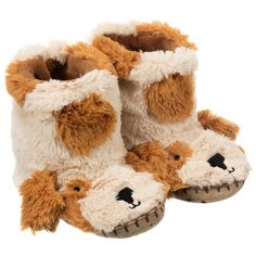 Little Blue House by Hatley - Brown Dog Slippers   Childrensalon