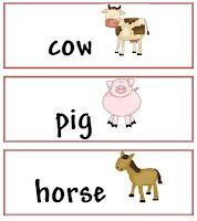 Who lives on a farm pocket chart sorting activity