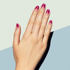 This Two Become One mani in eye-popping fuchsia is our new bold standard. What's your latest go-to nail color? #paintboxmani #nailart