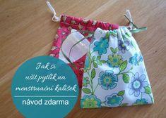 Látkový pytlík na menstruační kalíšek - návod na ušití.