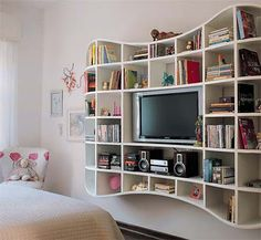 Would love this in a kids room no worrying about the tv falling etc