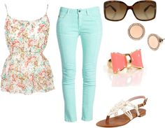 """""""Floral Top"""" by fashionista-ems on Polyvore"""