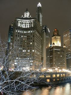 Chicago, Illinois ~ View from Michigan Ave Bridge looking South