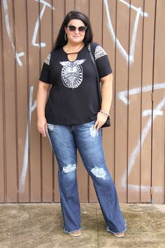 0dec53658 Blusa rocker plus size: aquele glam moderno no look do dia!