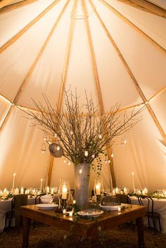 Under Canvas Events // TipiMarqui // Winter Reception