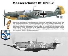 Messerschmitt Bf 109E-7 Luftwaffe, Ww2 Aircraft, Military Aircraft, Photo Avion, Ww2 Planes, Battle Of Britain, Trains, Model Airplanes, Military History