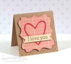 Stitched valentine