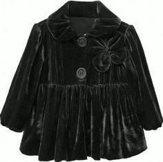 Girls Black Velvet Coat  2 to 14 Years at www.cassiesclosetinc.com