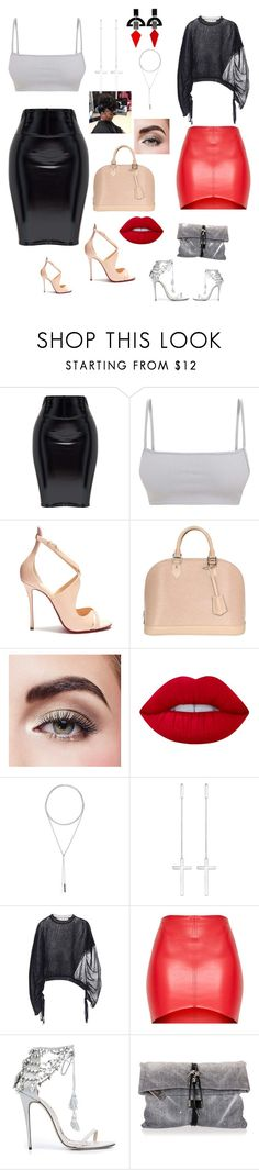 """Girl's night out"" by ericap61720 ❤ liked on Polyvore featuring Christian Louboutin, Louis Vuitton, Avon, Lime Crime, W. Britt, Thomas Sabo, Marni, Marchesa, Dsquared2 and Toolally"