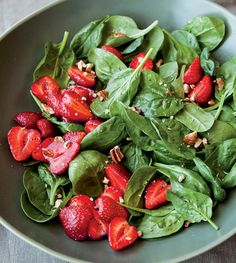 Fresh Strawberry and Spinach Salad Recipe—It is easy to love this popular combination.