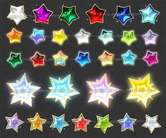 New downloadable stock - bright, shiny, magical star-shaped gems! If this set sells well, I'll make one more, with other shapes (multi pointed stars) You can purchase this set for 50 points and get...