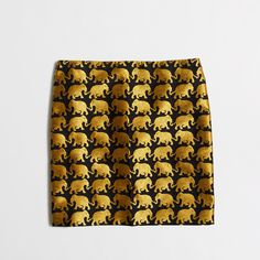 Factory elephant jacquard mini skirt : Mini & A-Line | J.Crew Factory (aka the perfect wonderfully amazing beautiful awesome cool pretty fluffy elephant skirt)