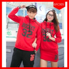 Exclusive Setelan Couple Hoodie Hockey Terbaru