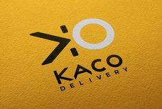 Logotype KACO DELIVERY // Sofia Doudine Graphiste Webdesigner B2B Freelance