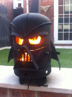 Darth Vader wood-burning stove