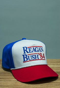 Reagan Bush '84 Rope Hat - Red/White/Blue