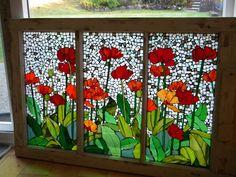 Stained Glass Mosaic Windows by SunshineGlassMosaics on Etsy