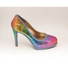 cf76355a587307 Sequin 6 Inch Rainbow Stiletto High Heels Pumps Dress Shoes ( 125) ❤ liked  on