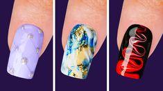 Nail Art Designs Videos, Simple Nail Art Designs, Beautiful Nail Designs, Peacock Nail Designs, Peacock Nails, Nail Art Hacks, Nail Art Diy, French Tip Nail Art, Summer Gel Nails