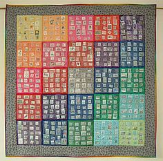 A new take on the old postage stamp quilt pattern...difficult but gorgeous
